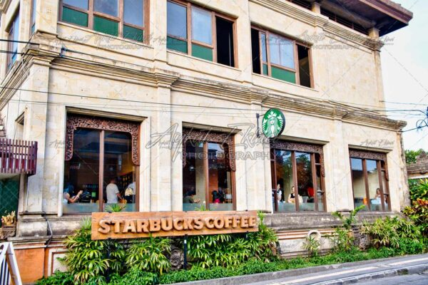 Starbucks cafe located in Ubud Water Palace Ubud, Bali island