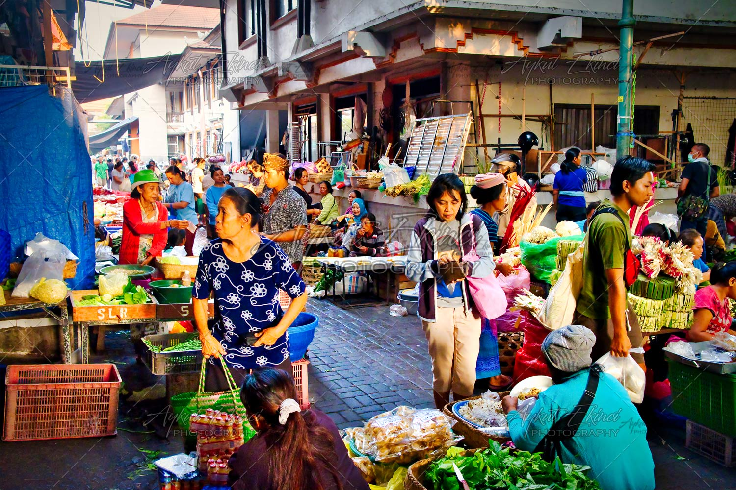 Morning Market in Ubud Bali Island Indonesia